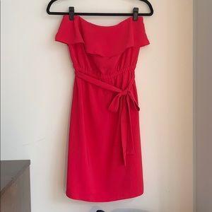 Fushia DKNY Strapless Dress XS Like New!